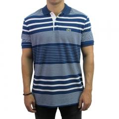 ba8c8b6f030b8 imagem Camiseta Polo Lacoste Regular Fit Listrada