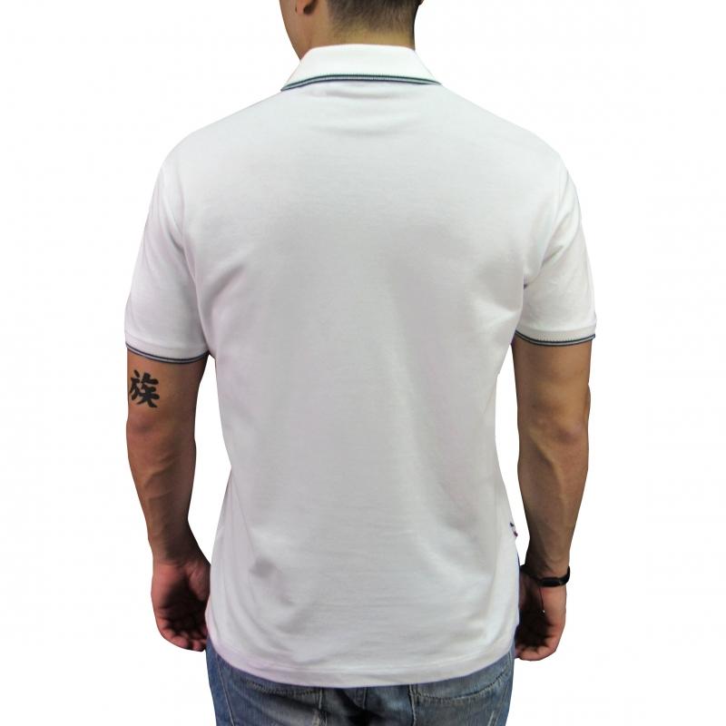 3761b36b93 Camiseta Polo Lacoste Live Slim Fit Branca