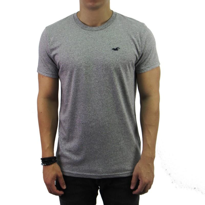 b577d39f14 Camiseta Hollister Cinza