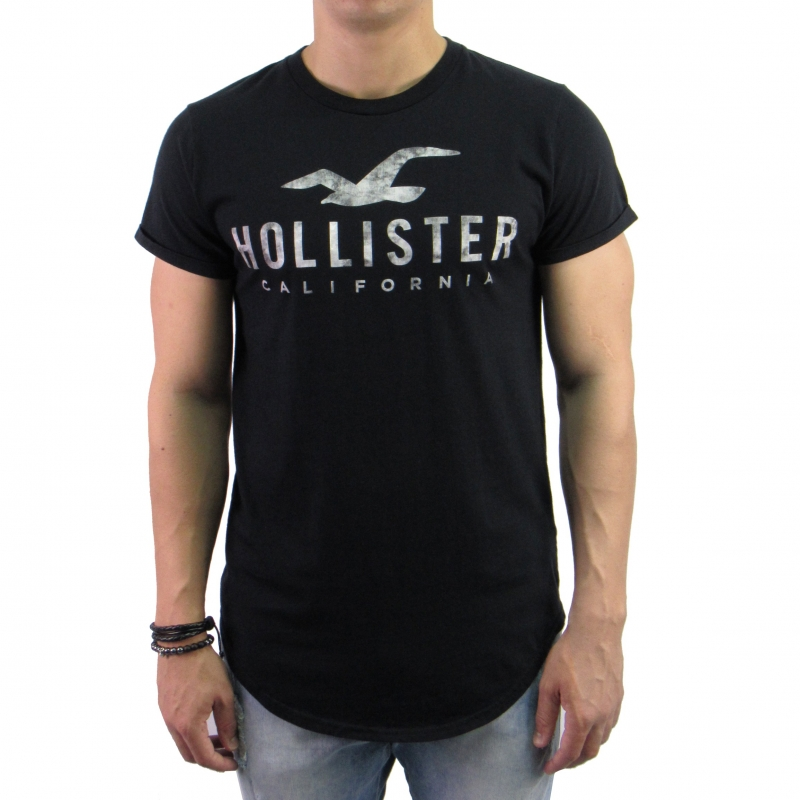 e95b59c73 Camiseta Hollister Long Preta